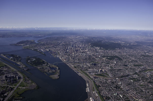 Aerial photo of Montreal