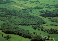 Aerial photo of a typical Haut-Saint-Laurent landscape