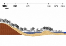 Drawing of the Haut-Saint-Laurent pre-colonial vegetation, based on soil types