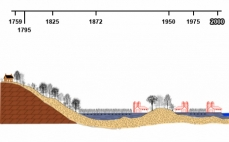 Drawing of the contemporary Haut-Saint-Laurent vegetation, based on soil types